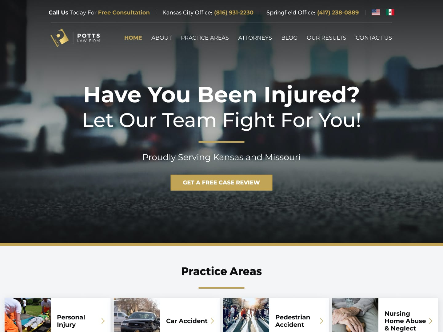 car accident ppc landing page