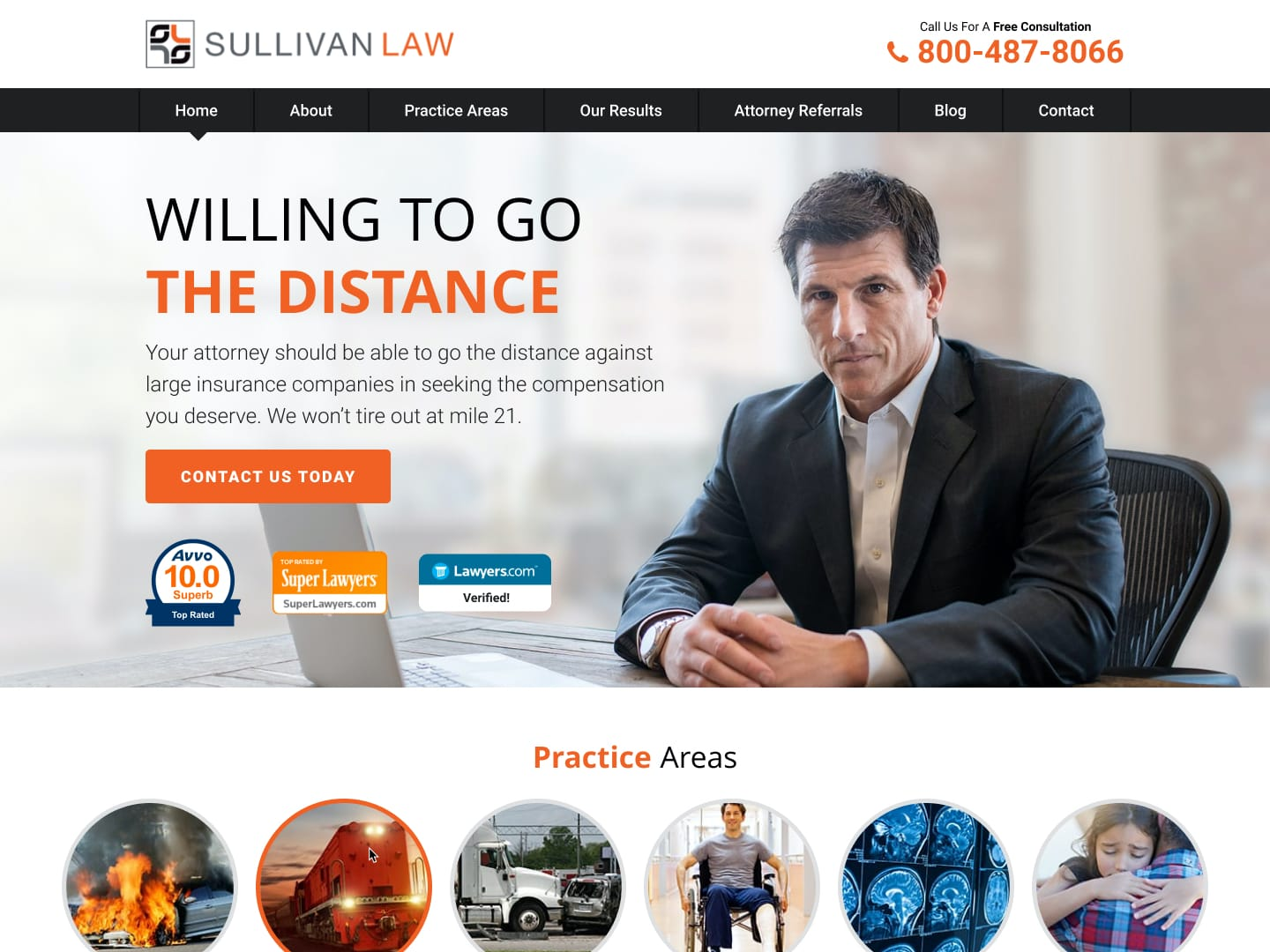 personal injury web design
